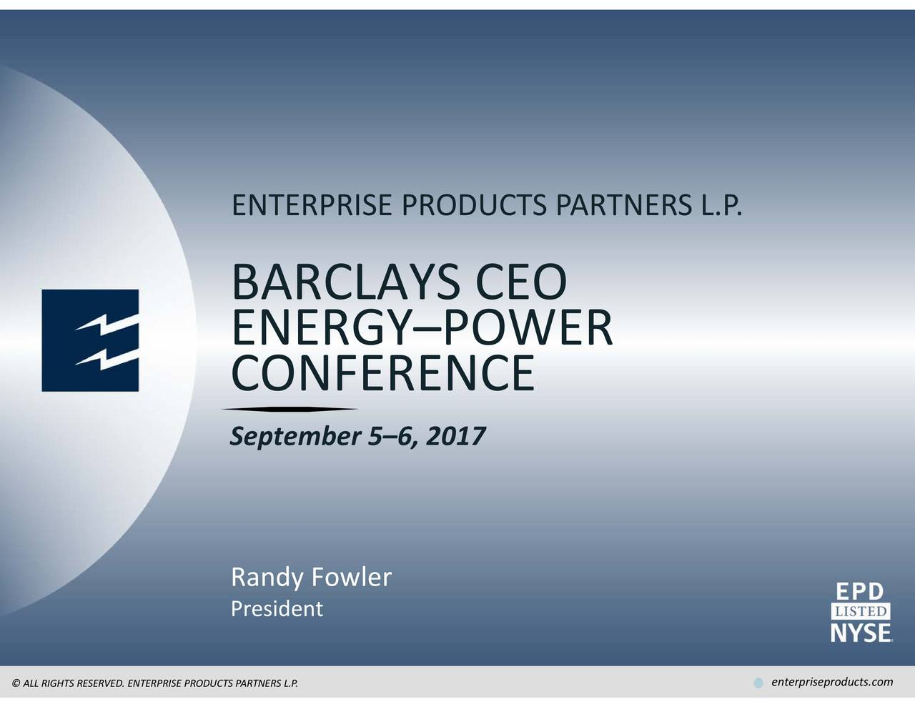 Epd Stock Quote Enterprise Products Partners Epd Presents At Barclays Ceo Energy