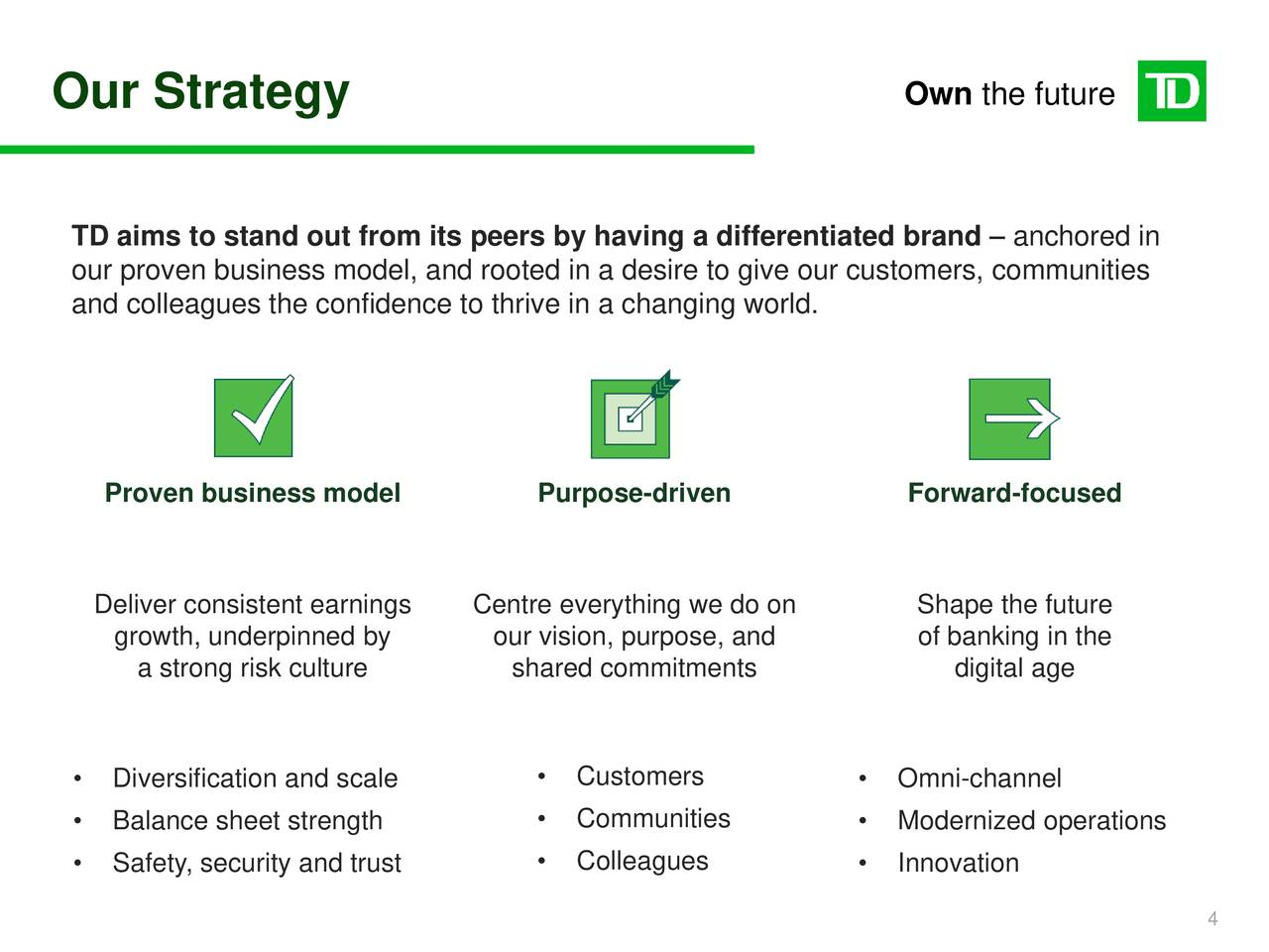 Earnings Disclaimer >> Toronto-Dominion Bank 2018 Q4 - Results - Earnings Call Slides (NYSE:TD) | Seeking Alpha