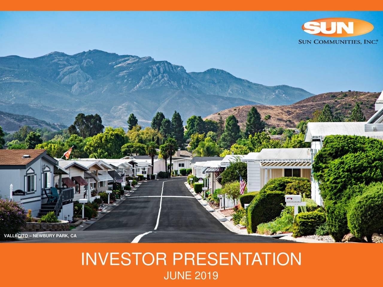 Sun Communities (SUI) Investor Presentation - Slideshow