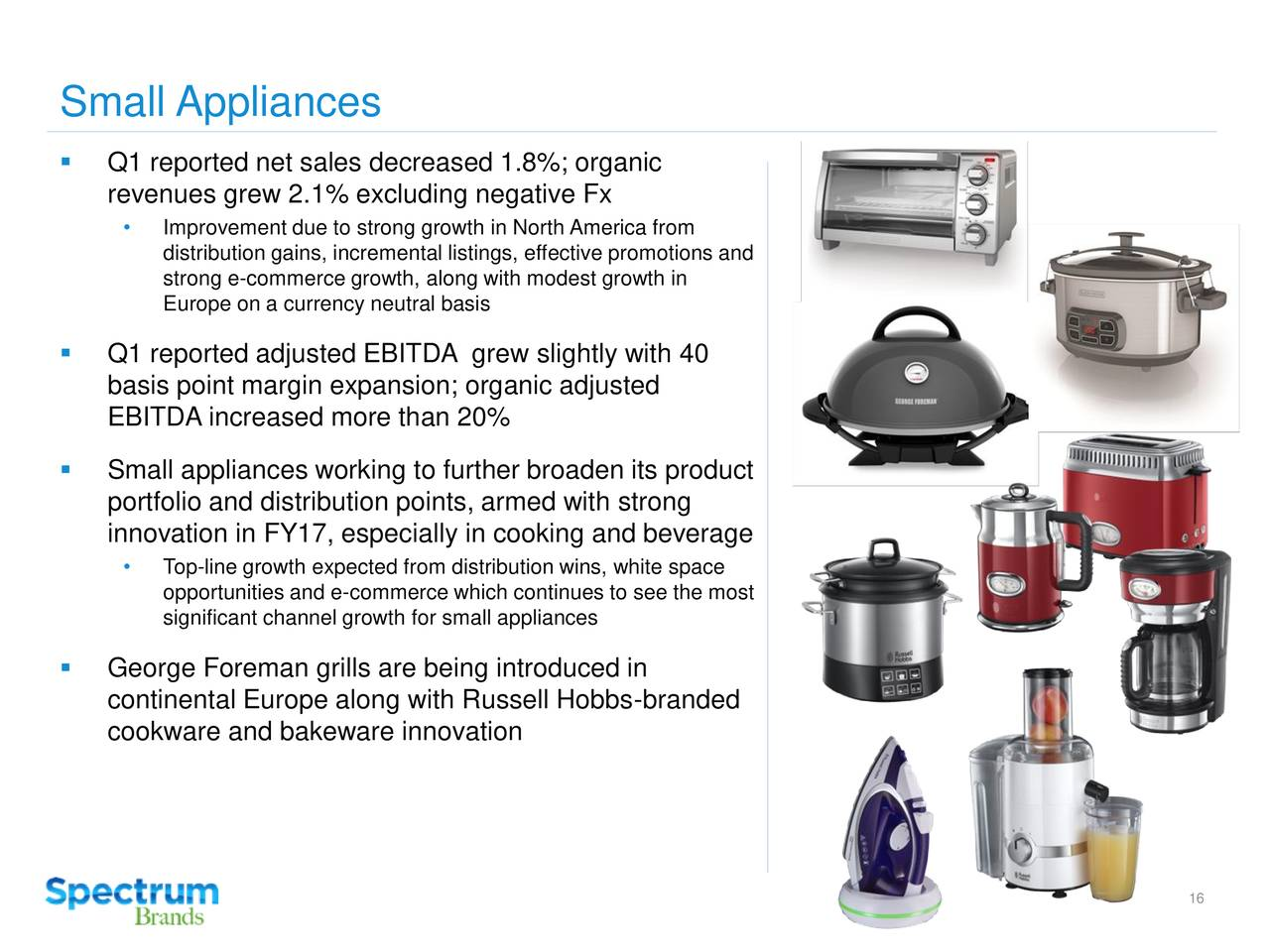 Appliances Brands Spectrum Brand Holdings Inc 2017 Q1 Results Earnings Call
