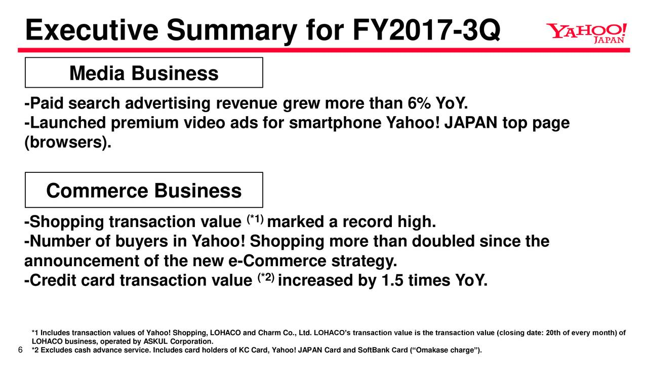 Yahoo Japan Corp. ADR 2017 Q3 - Results - Earnings Call Slides ...