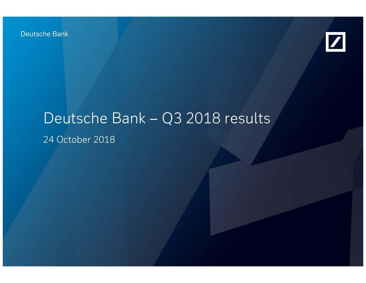 Deutsche Bank Q3