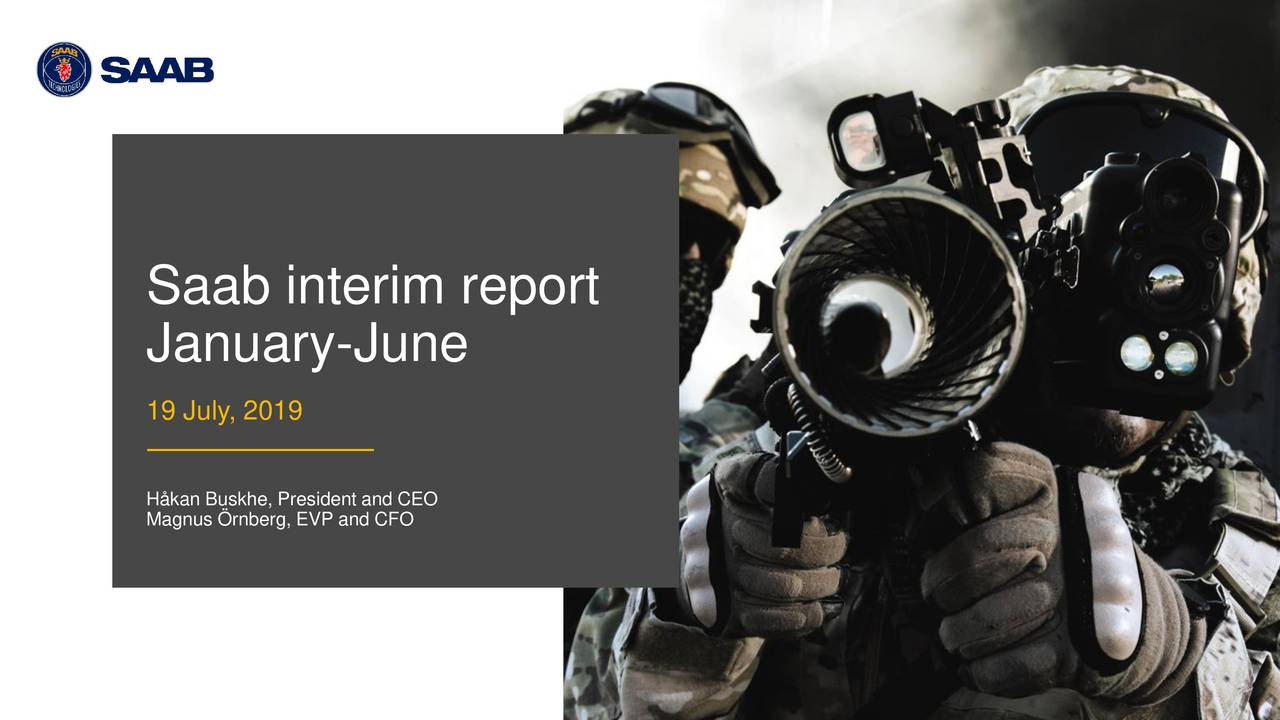 Saab AB (publ) 2019 Q2 - Results - Earnings Call Slides
