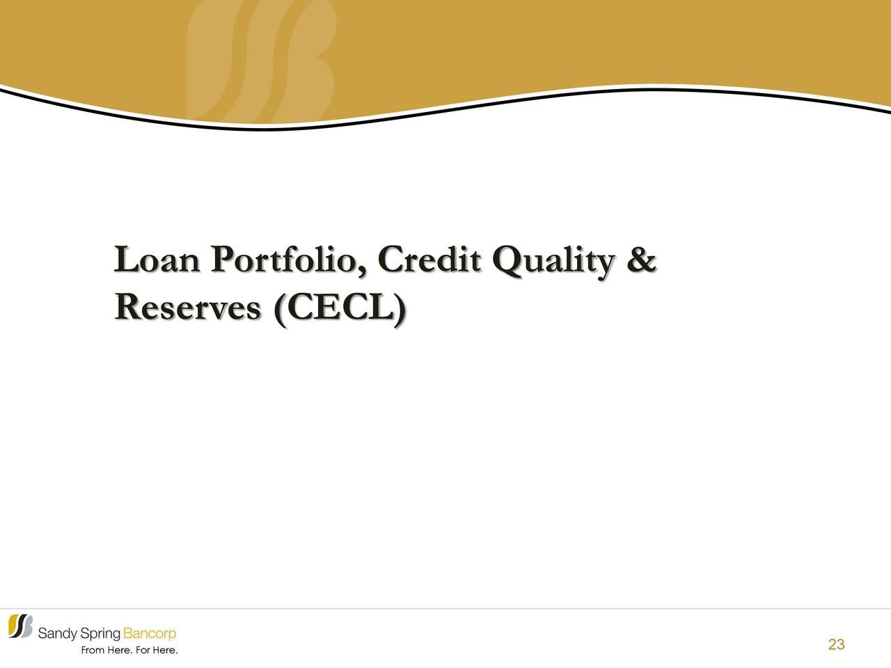 Cartera de préstamos, calidad crediticia y