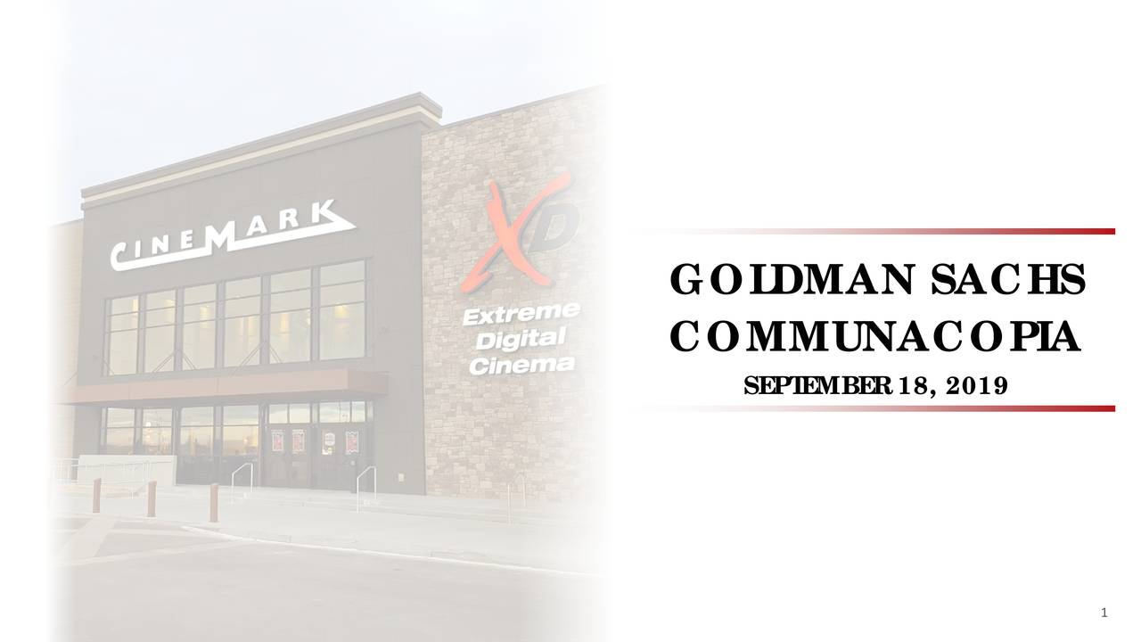 Cinemark (CNK) Presents At Goldman Sachs Communacopia Conference - Slideshow