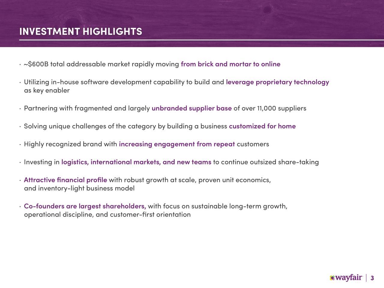 Wayfair 2018 Q4 - Results - Earnings Call Slides - Wayfair ...