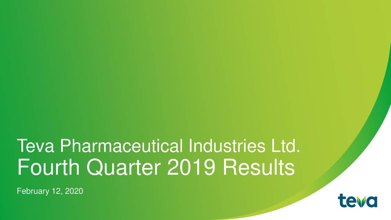 Teva Pharmaceutical Industries Limited 2019 Q4 - Results - Earnings Call Presentation - Teva Pharmaceutical Industries Limited (NYSE:TEVA) | Seeking Alpha
