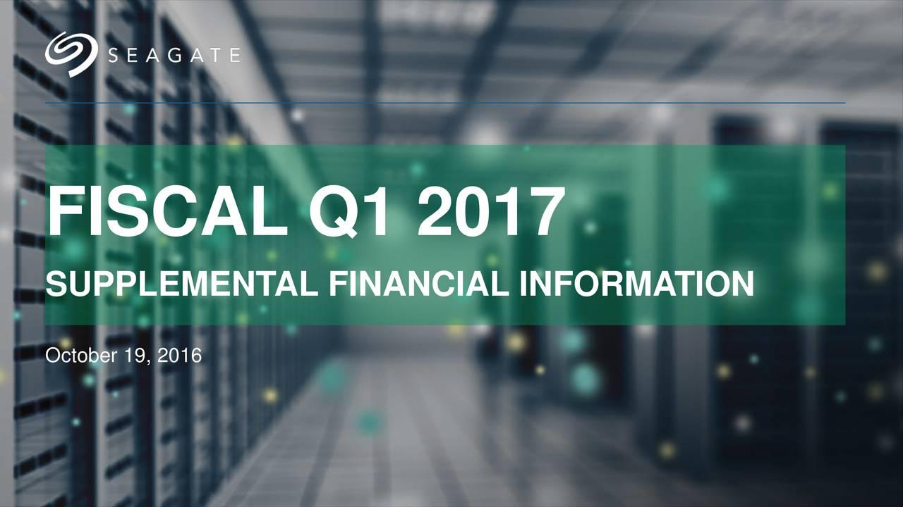 SUPPLEMENTAL FINANCIAL INFORMATION October 19, 2016