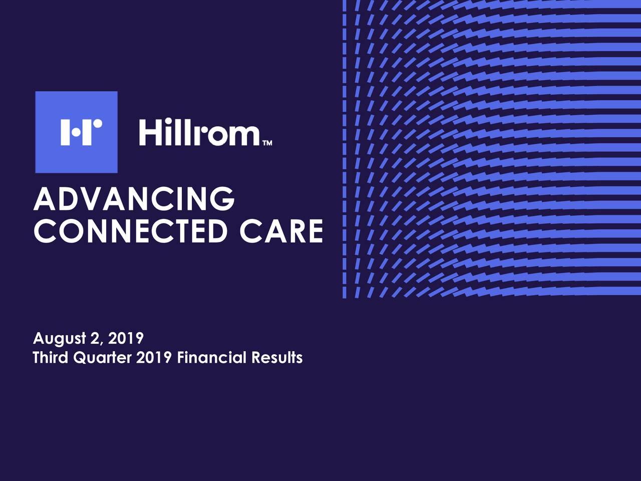 Earnings Disclaimer >> Hill-Rom Holdings, Inc. 2019 Q3 - Results - Earnings Call Slides - Hill-Rom Holdings, Inc. (NYSE ...