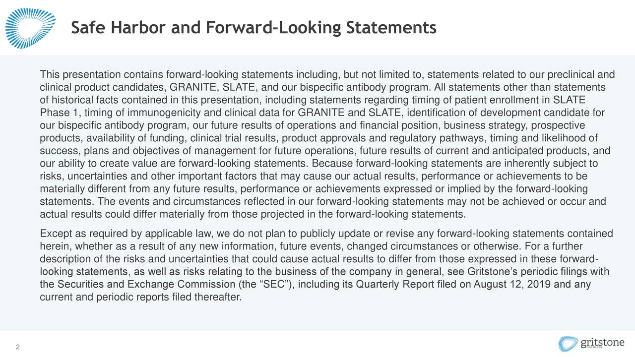 Safe Harbor and Forward-Looking Statements