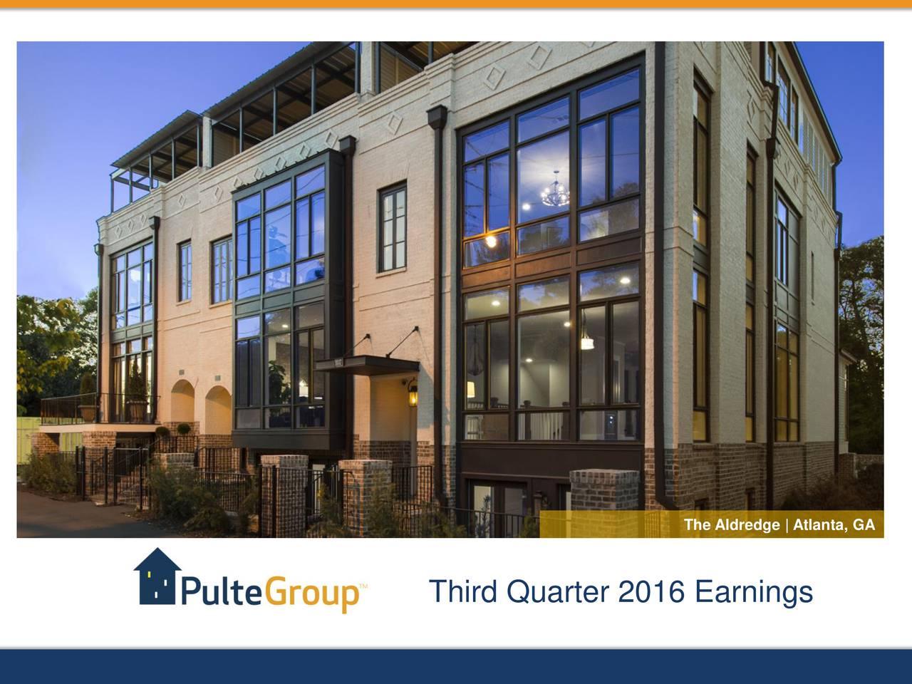Third Quarter 2016 Earnings