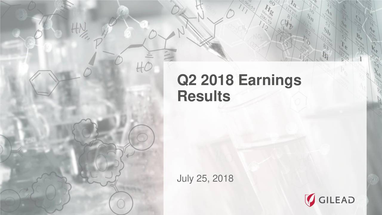 Gilead Sciences Inc 2018 Q2 Results Earnings Call Slides
