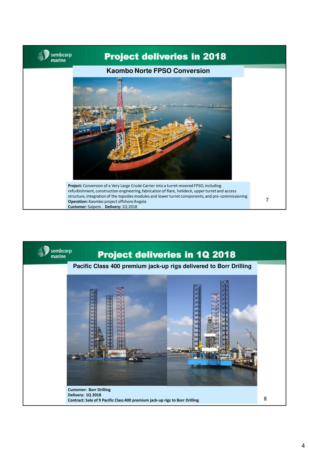 Sembcorp Marine Ltd  ADR 2018 Q1 - Results - Earnings Call