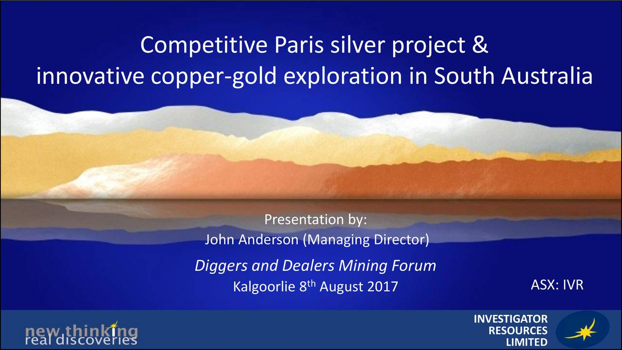 Investigator Resources (SUTAF) Presents At Diggers and