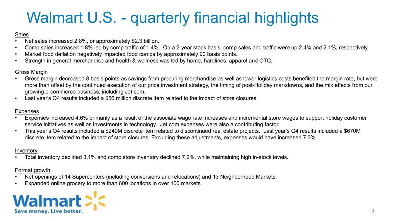 Wal-Mart Stores, Inc  2017 Q4 - Results - Earnings Call