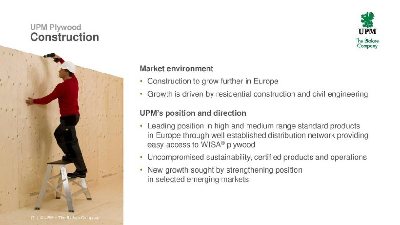 UPM-Kymmene (UPMKF) Investor Presentation - Slideshow ...