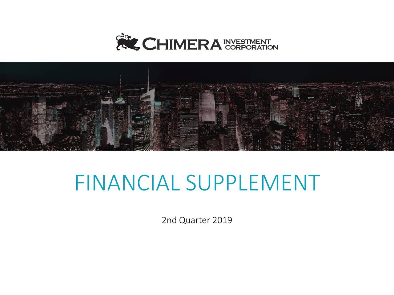 FINANCIAL SUPPLEMENT