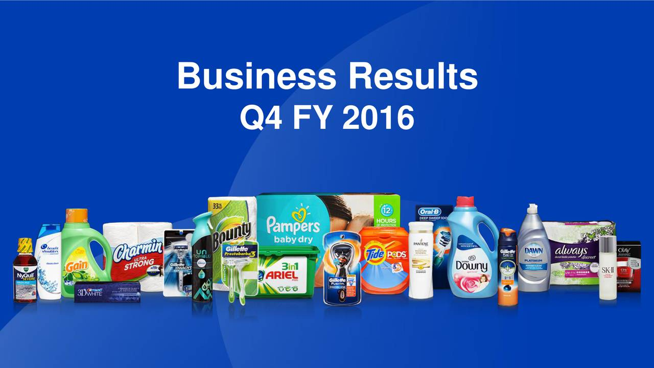 Procter & Gamble Stock Quote The Procter & Gamble Company 2016 Q4  Results  Earnings Call