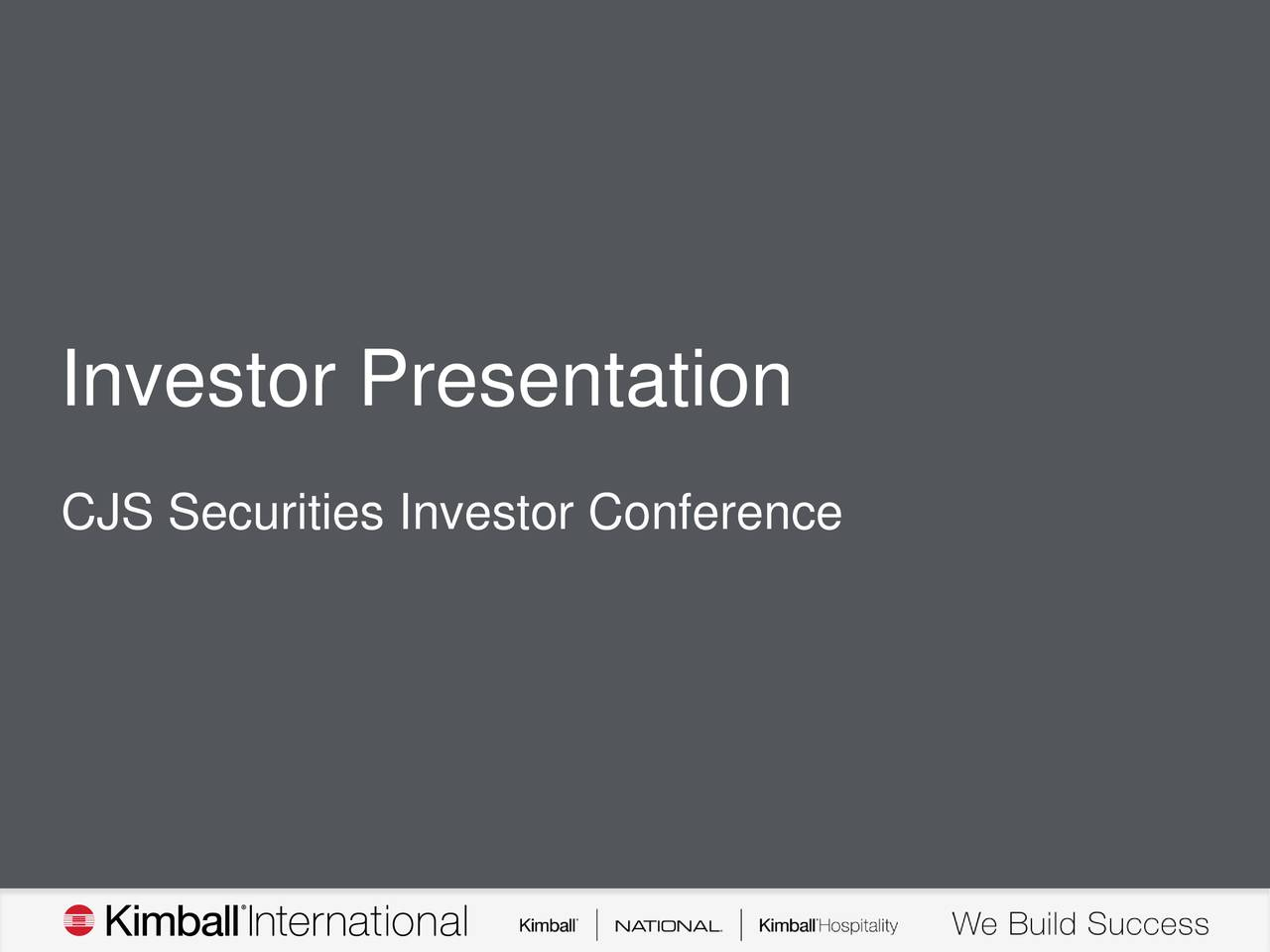 CJS Securities Investor Conference
