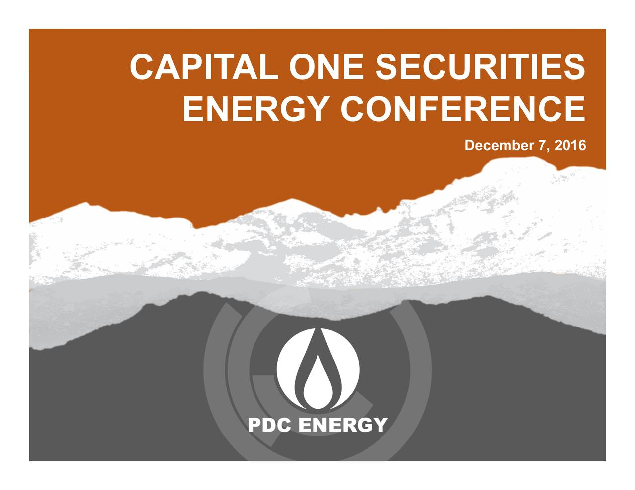 ENERGY CONFERENCE CAPIT AL ONE SECURITIES