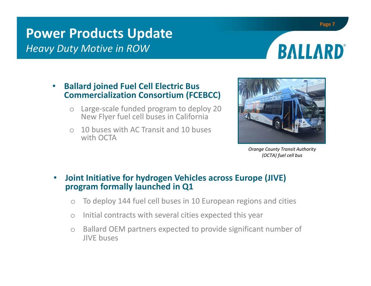 Ballard Power Systems, Inc  2017 Q1 - Results - Earnings Call Slides