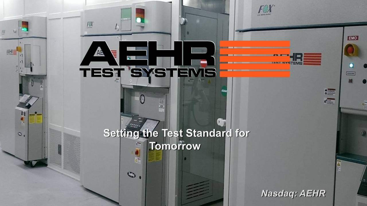 Aehr Test Systems (AEHR) Presents At LD Micro Invitational Confeence - Slideshow