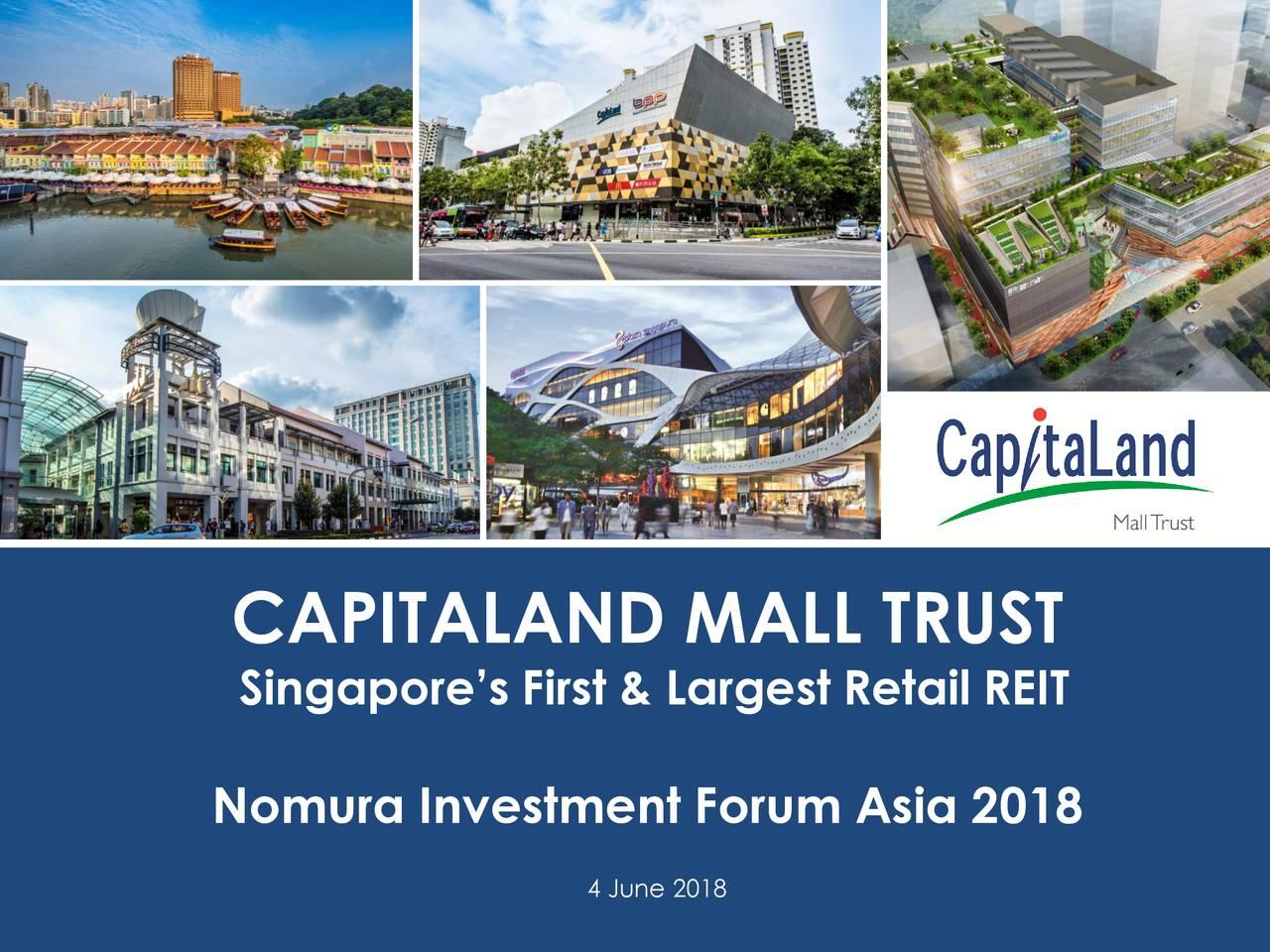 CapitaLand Mall Trust (CPAMF) Presents At Nomura Investment