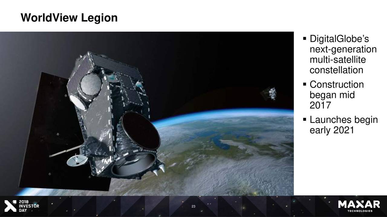 Maxar on track for launch of next-gen WorldView Legion