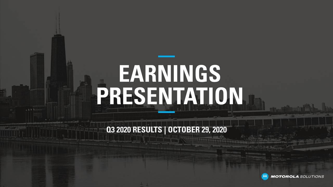 Motorola Solutions, Inc. 2020 Q3 - Results - Earnings Call Presentation (NYSE:MSI)