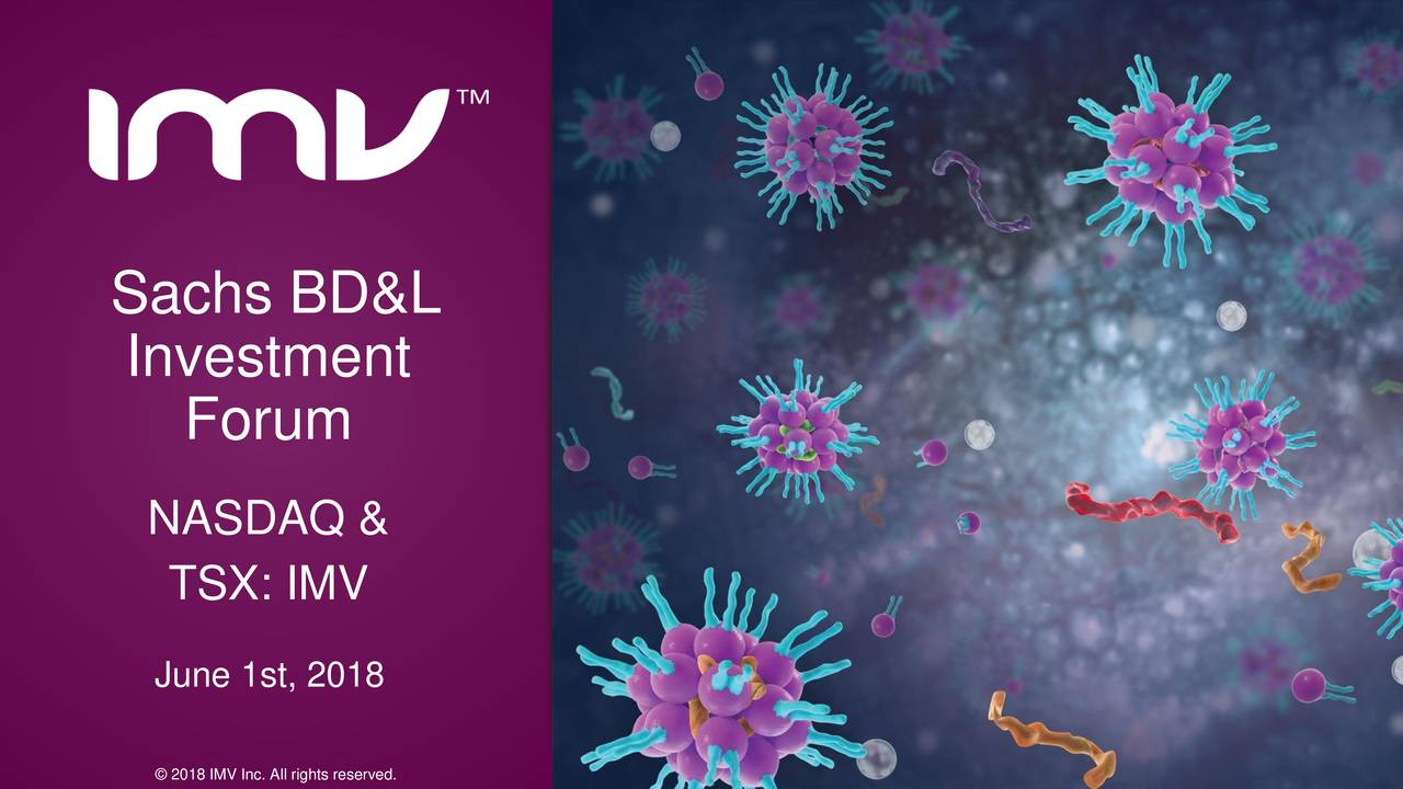 IMV (IMMVD) Presents At 4th Annual Immuno-Oncology: BD&L And