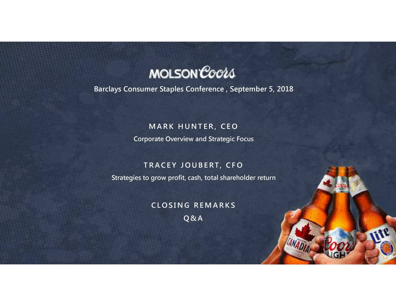Molson Coors Brewing (TAP) Presents at Barclays Global ...