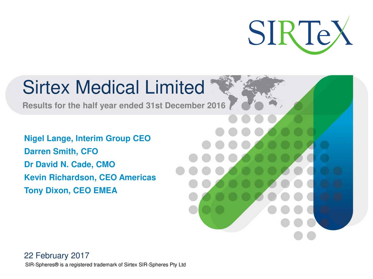sirtex is a medical company accountancy