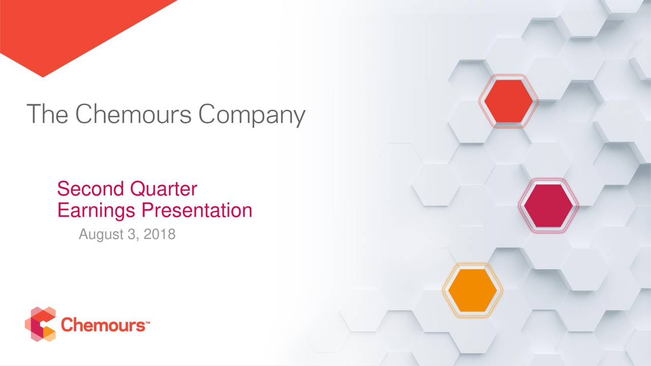 The Chemours Company 2018 Q2 - Results - Earnings Call