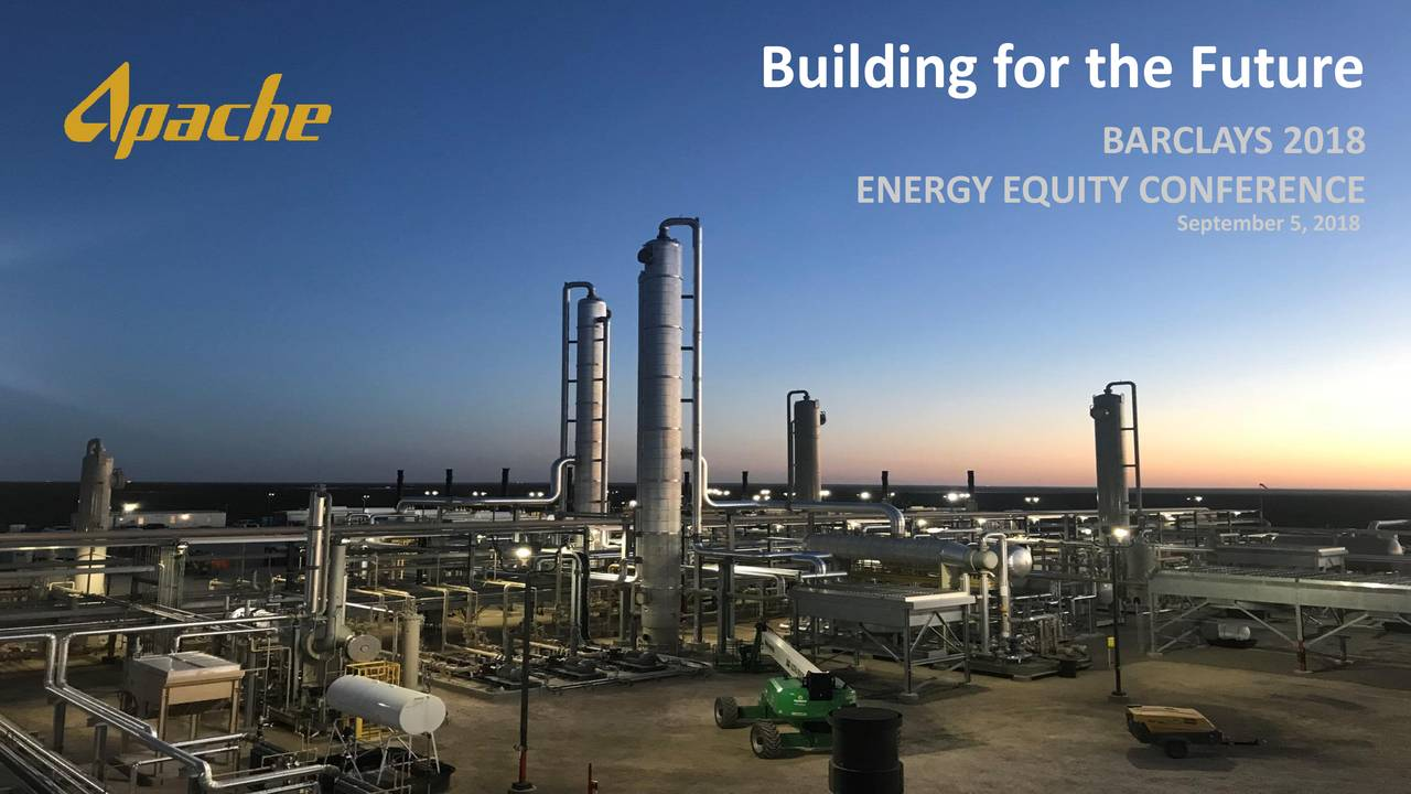BARCLAYS 2018 ENERGY EQUITY CONFERENCE September 5, 2018 1