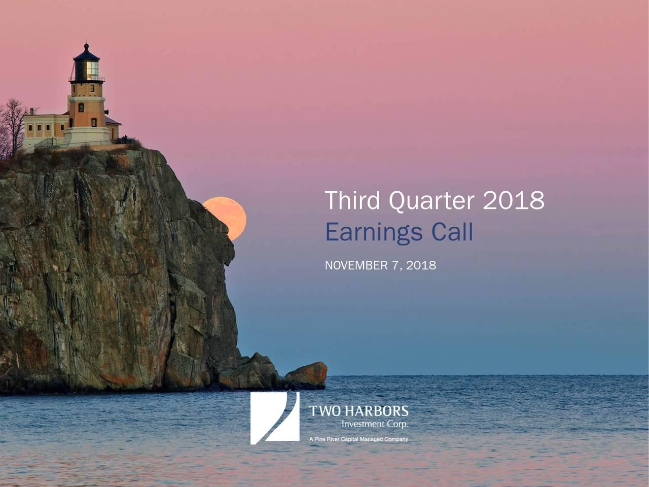 Earnings Call NOVEMBER 7, 2018