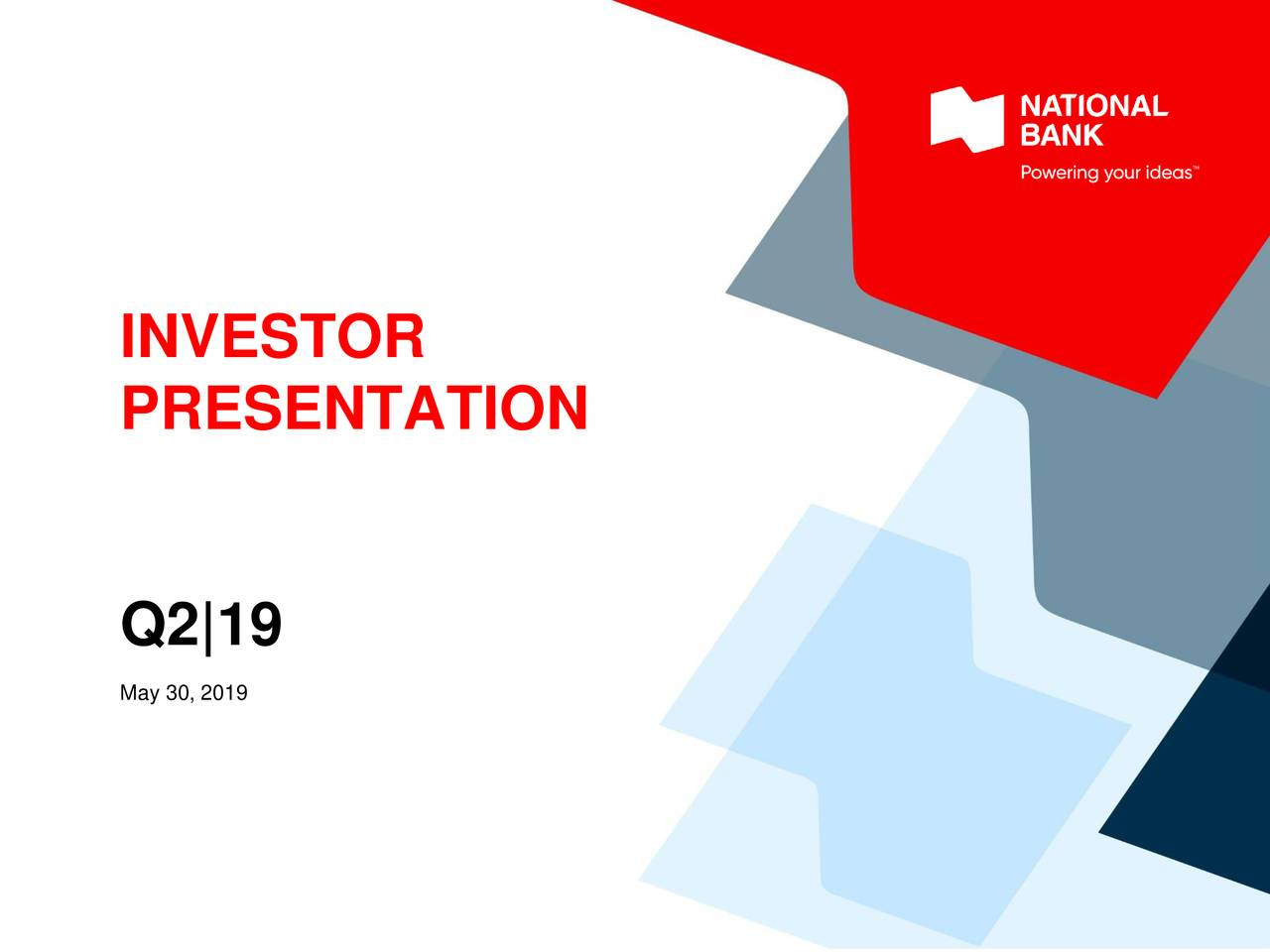 National Bank of Canada 2019 Q2 - Results - Earnings Call Slides