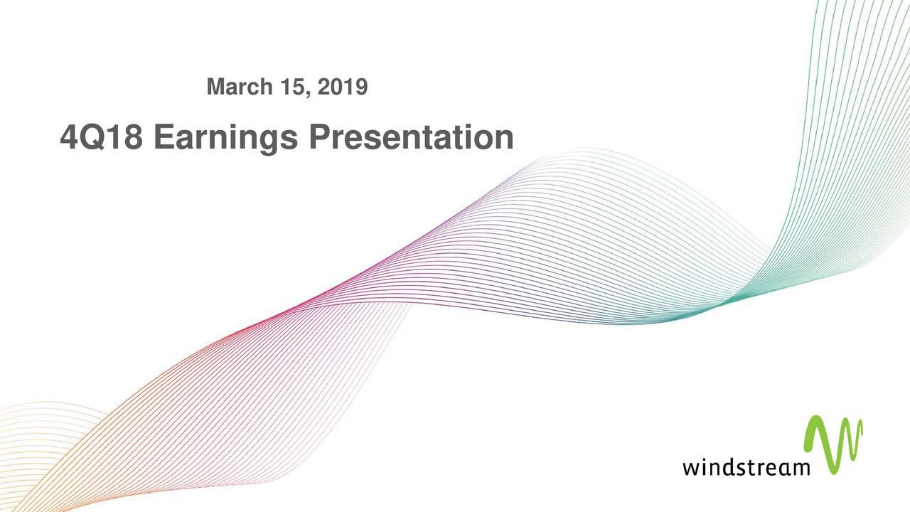 4Q18 Earnings Presentation