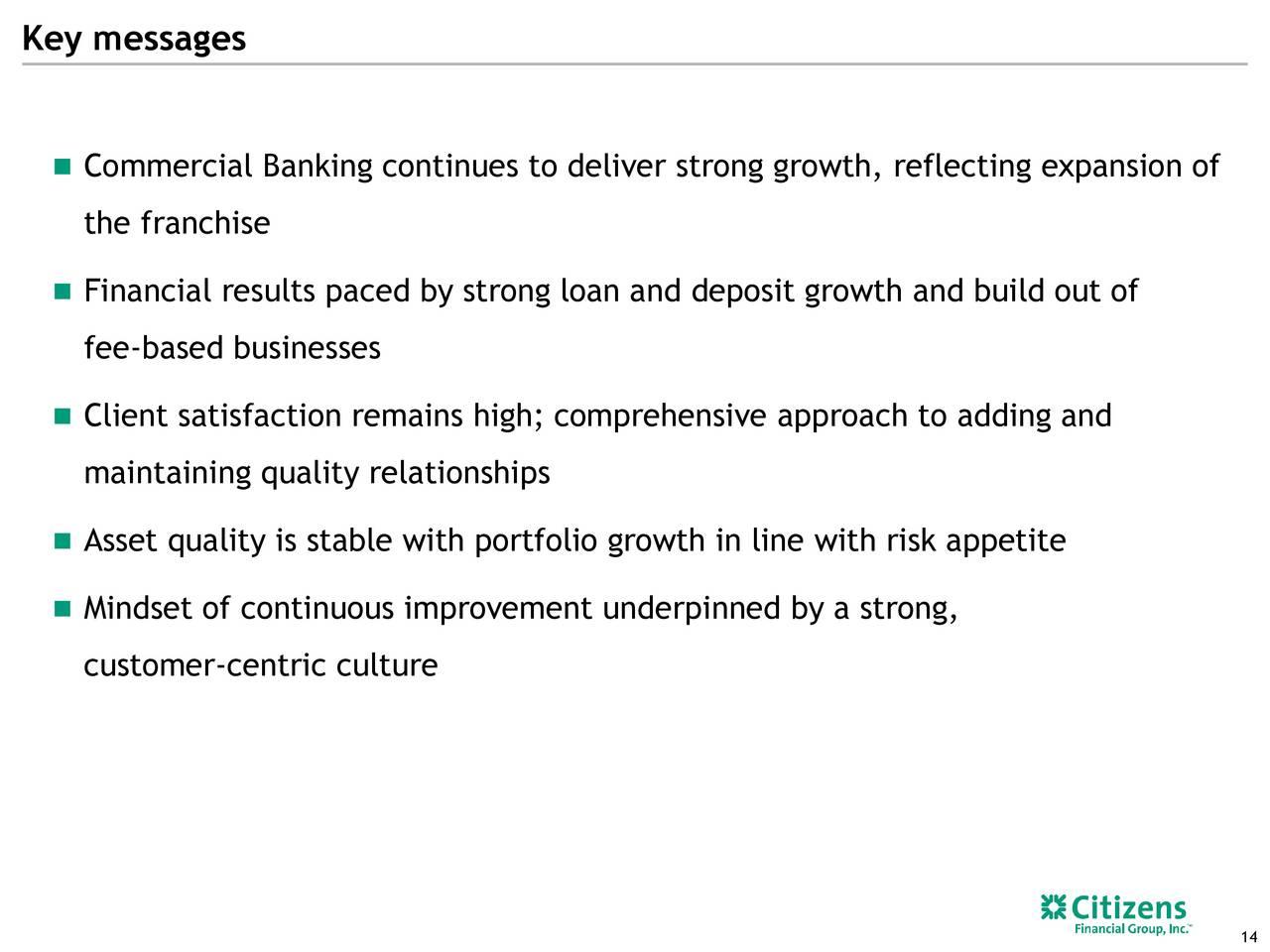 Citizens Financial Group Cfg Presents At Morgan Stanley Financials Conference Slideshow