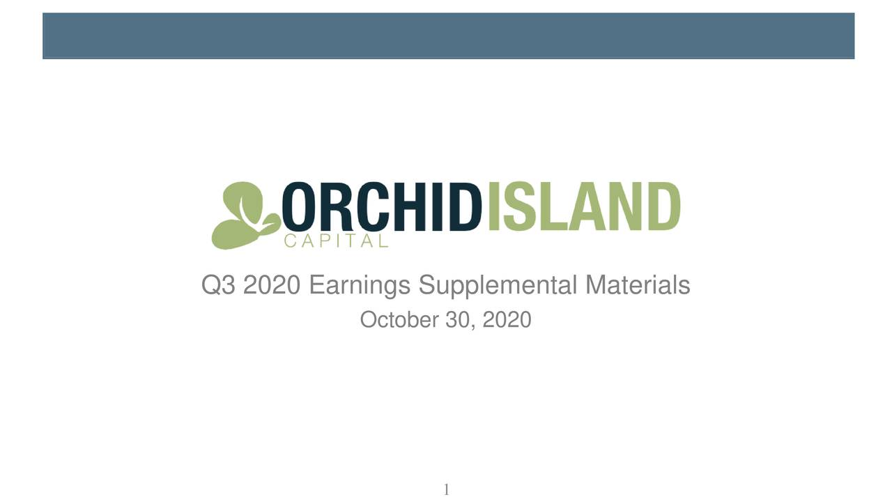 Orchid Island Capital, Inc. 2020 Q3 - Results - Earnings Call Presentation (NYSE:ORC)