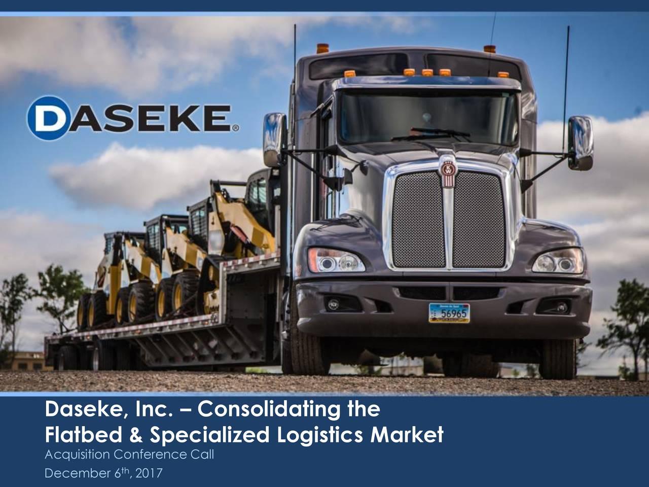 Daseke, Inc. – Consolidating the