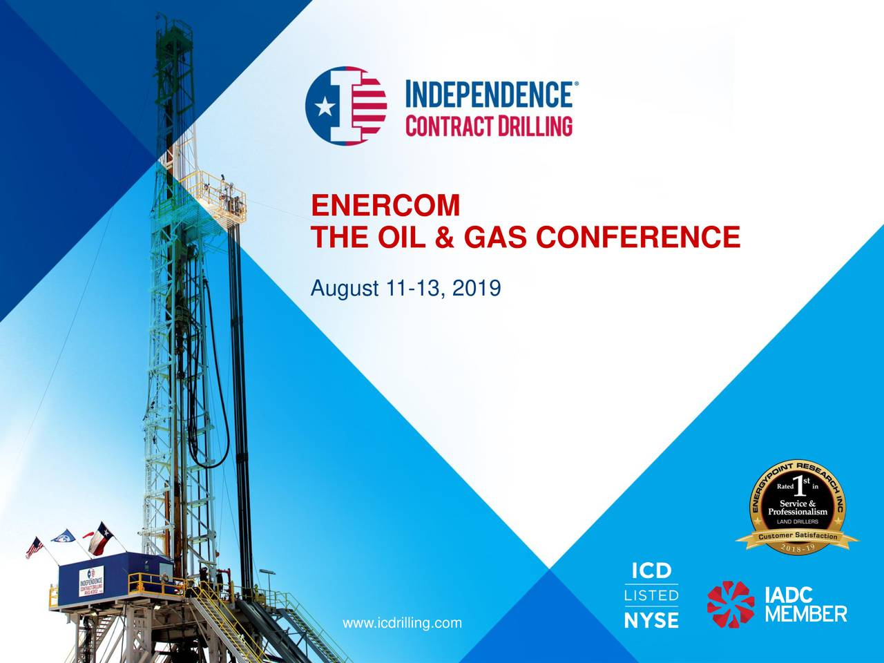 Independence Contract Drilling (ICD) Presents At EnerCom Oil & Gas Conference - Slideshow