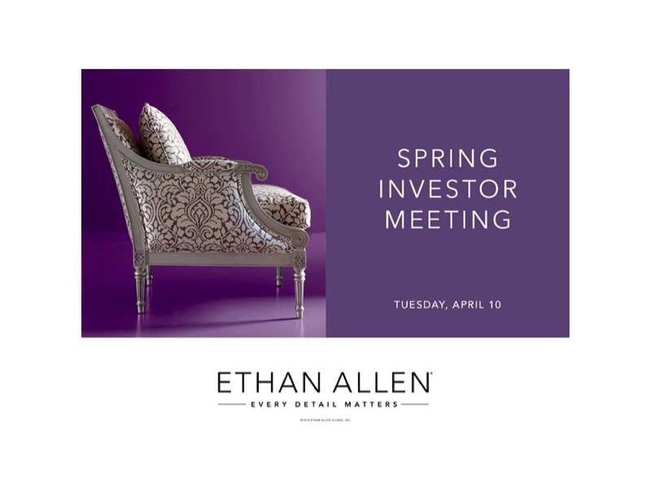 Ethan Allen Interiors Eth Investor Presentation