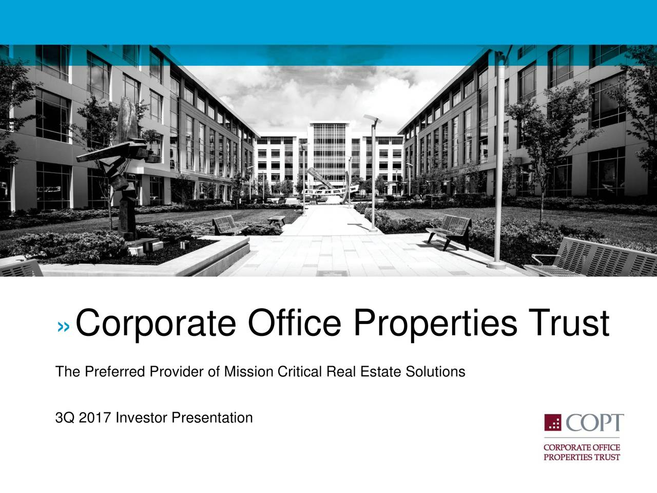 Corporate Office Properties Trust 2017 Q3 - Results ...