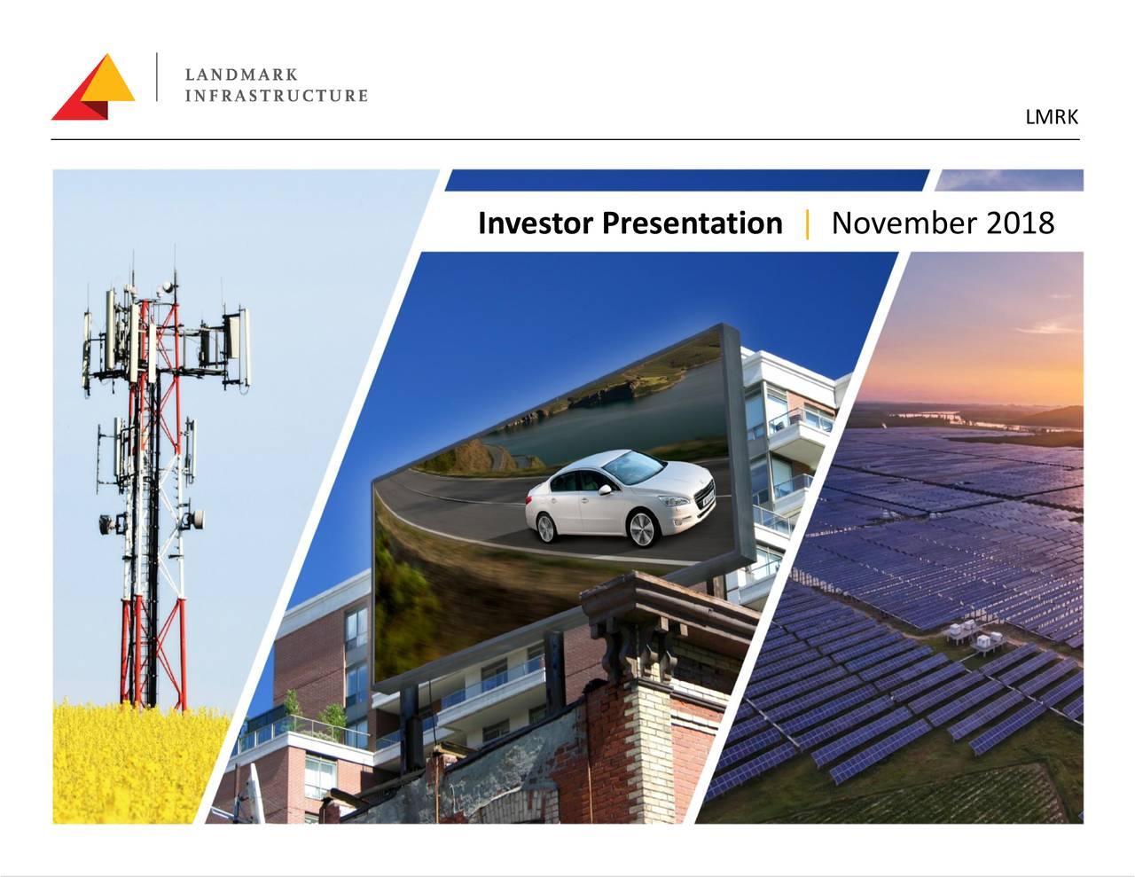 Investor Presentation | November 2018 1