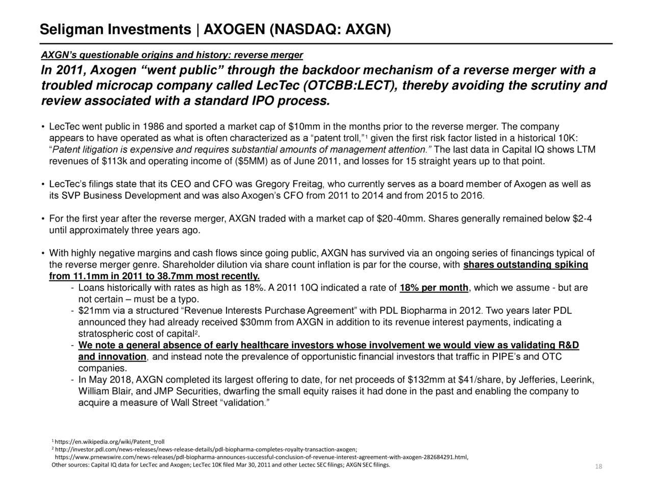 AxoGen: An Overhyped, Cash-Burning Reverse Merger At 12x Revenue