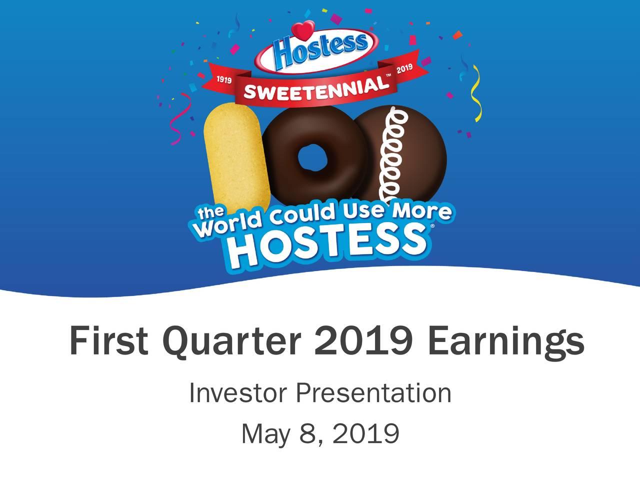 First Quarter 2019 Earnings Investor Presentation May 8, 2019