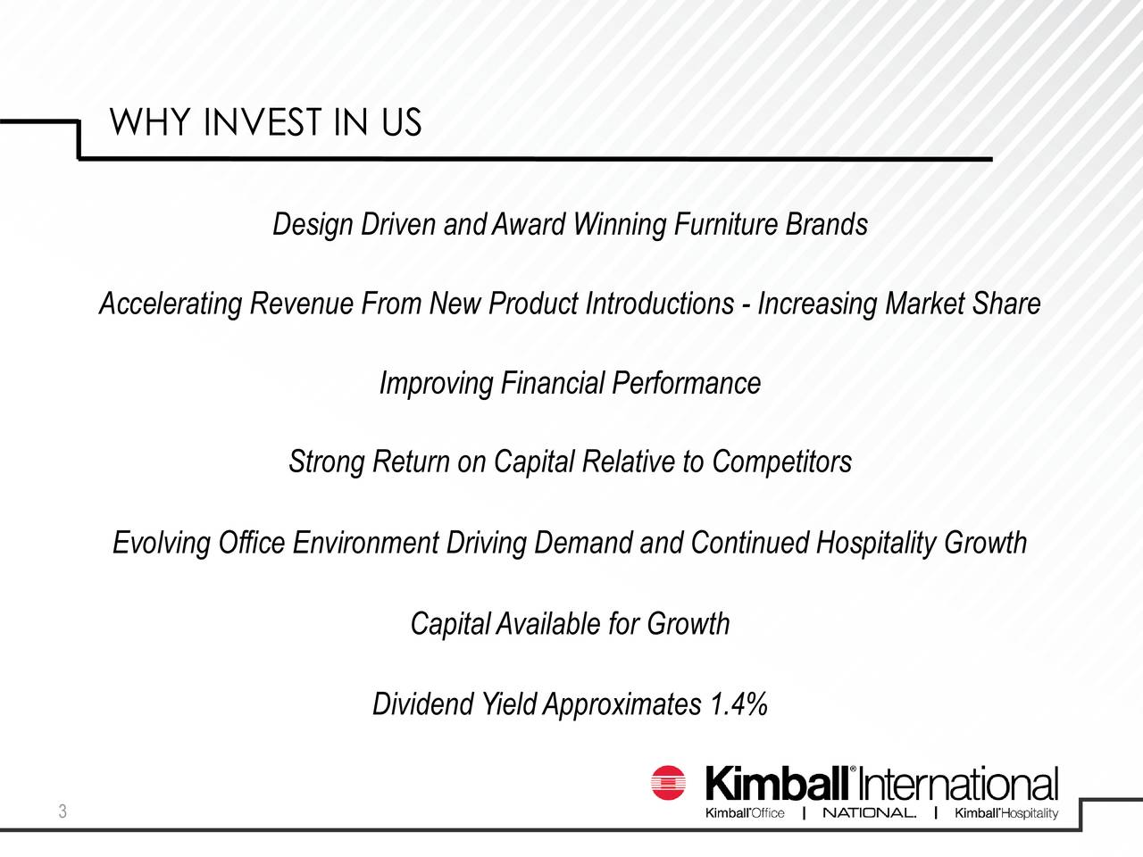 Kimball International Inc 2017 Q2 Results Earnings Call Slides