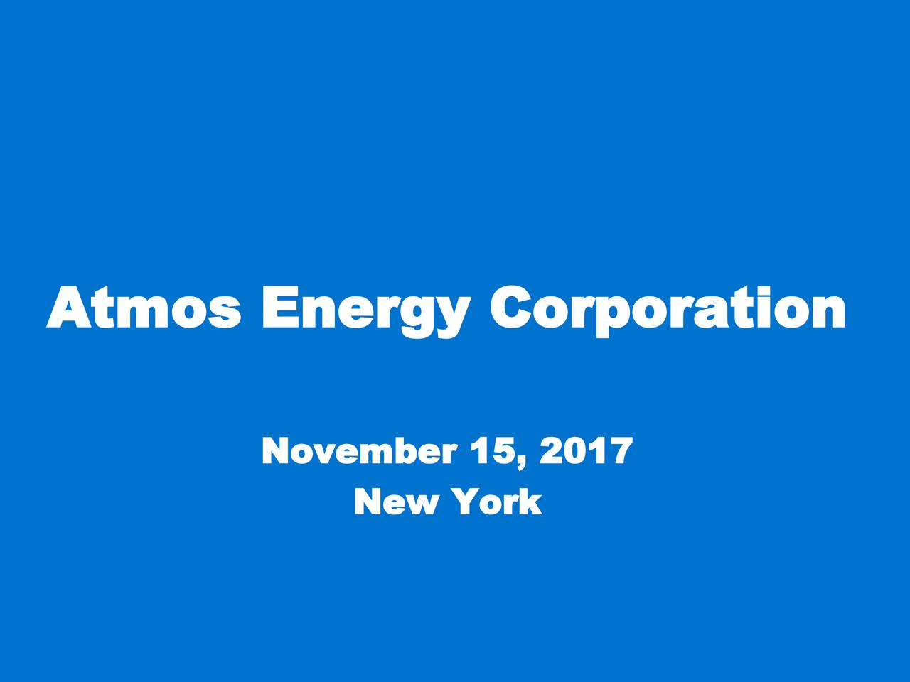 Atmos Energy Ato Investor Presentation Slideshow