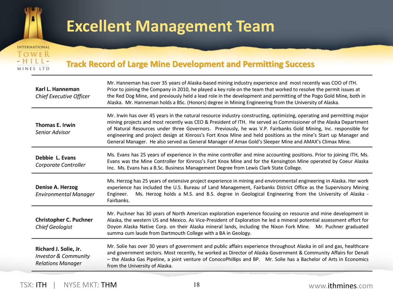 management team and mining group gold He served as interim chief operating officer of new gold from aspects of project management, team development of technology management group.